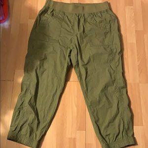 Chico's Olive green crop pants